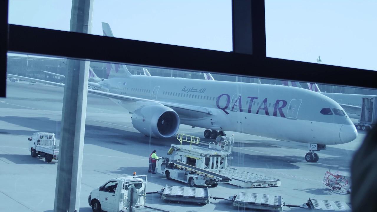 Travel.(read the description) Hamad International Qatar Airways flight!