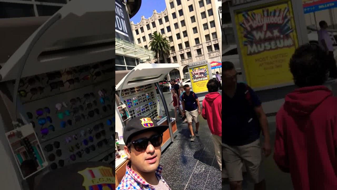 Qatar Airways Travel Diary, Hollywood walk of fame street, California