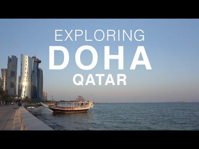 Expats Exploring the Corniche Doha Qatar