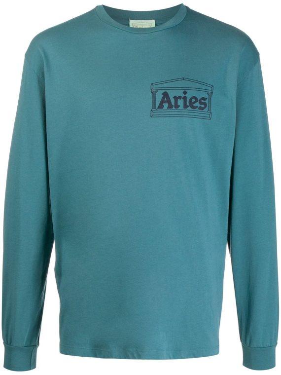 Aries سويت شيرت بطبعة شعار الماركة - أزرق