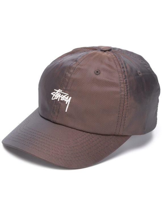 Stussy قبعة بيسبول بتطريز شعار الماركة - أسود